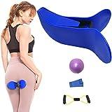 Butt Exerciser, Hip Trainer, Super Kegel Exerciser Pelgrip Pelvis Floor Muscle Medial Exerciser, Hip Muscle&Inner Thigh Trainer Correction Beautiful Buttocks for Women (Blue)