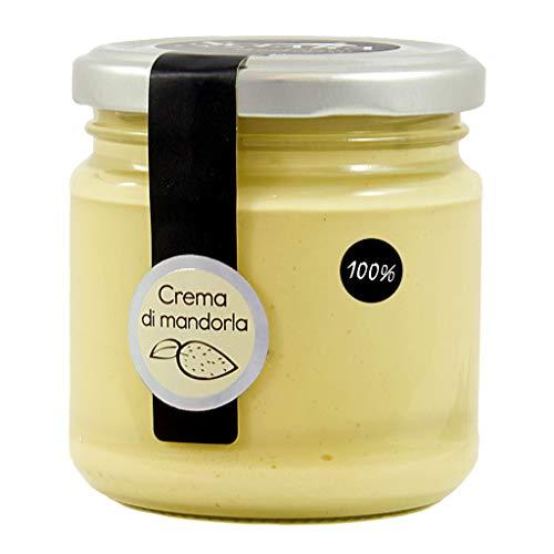 SCIARA - Crema 100% Mandorla. Crema di Mandorla naturale e genuina. Senza zucchero, senza lattosio, senza glutine. Pasta pura di mandorla. Da spalmare o per gelati e prodotti di pasticceria.