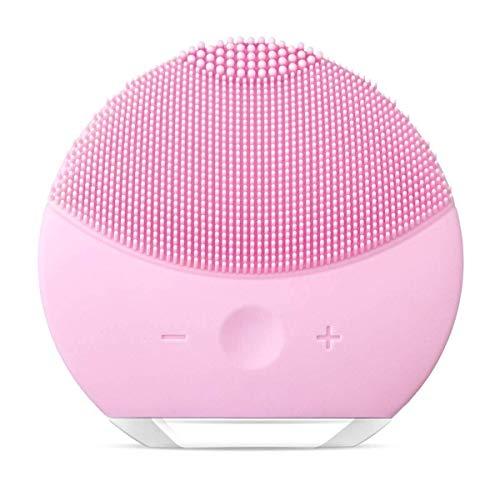 Spazzola Detergente Viso, Silicone Elettrico Impermeabile Detergente Viso Esfoliante Per Massaggi Strumento (Rosa)