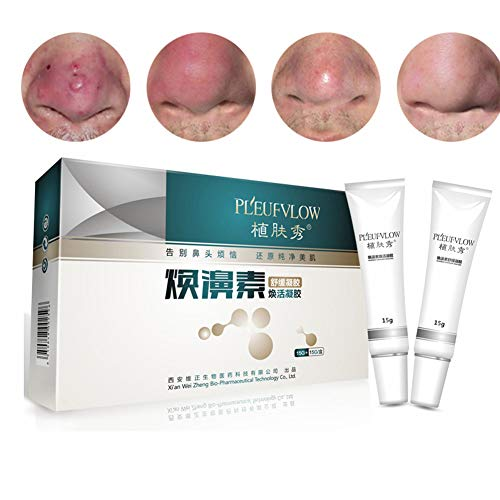Rosacea Cream - Traitement contre rosacée Soins peau Pores Produits pour soulagement rougeur du visage, inflammations et lutte contre l'acné, l'hydratation suppression bactéries crème démangeante