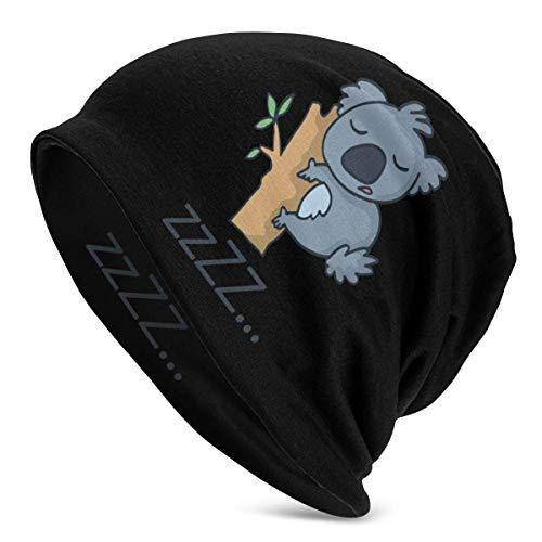 XCNGG Cute Koala Mujeres Hombres Elegante Beanie Hat Soft Stretch Knit Slouchy Skull Cap