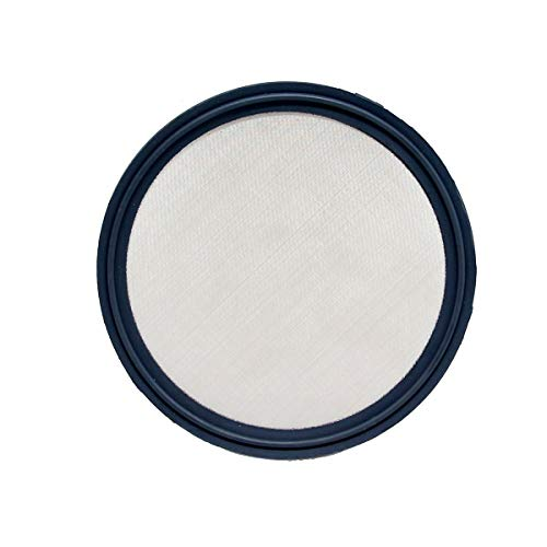 "QiiMii 4"" Sanitary Gasket FKM w/Stainless Screen - Tri Clamp Clover (150 Mesh)"