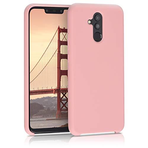 kwmobile Funda Compatible con Huawei Mate 20 Lite - Carcasa de TPU para móvil - Cover Trasero en Oro Rosa