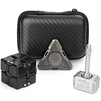 Handheld Mini Fidget Toy Set Fidget,Infinity Cube,Fidget Cube,Glow in The Dark Fidget Spinner Stress and Anxiety Relief Stuffer Gift for Teen Kids Adults with EDC ADHD Autism