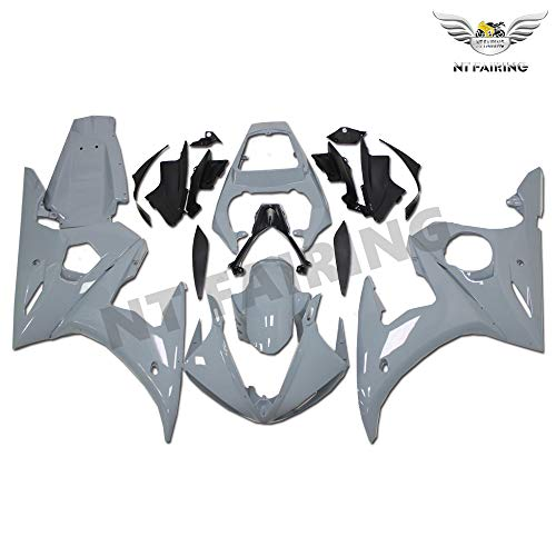 NT FAIRING Nardo Gray Fairing Fit for YAMAHA 2003-2005 YZF R6 & 2006-2009 YZF R6S Injection Mold ABS Plastics Bodywork Body Kit Bodyframe Body Work