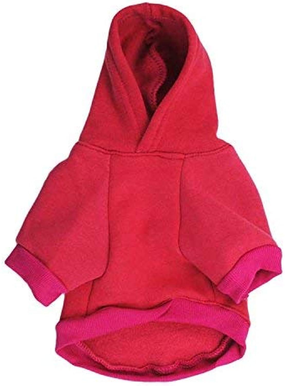 HSDDA Party Pet Costume Pet Supplies Misc Pet clothes dog clothing fleece cloth with cap small dog pet tshirt autumn and winter models (color   White, Size   L) Pet Uniform (color   Red, Size   XS)