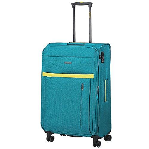 Preisvergleich Produktbild Travelite Computerkoffer mit Rollen,  78 l,  Aqua / Zitrone. (Blau) - 2047646