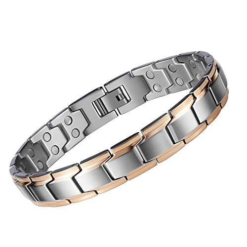 Magnetic Therapy Bracelets Pain Relief for Arthritis-Health Silvers Magnetic Bracelet Men Arthritis and Women Adjustable 3500 Guss with Remove Tool & Gift Box.