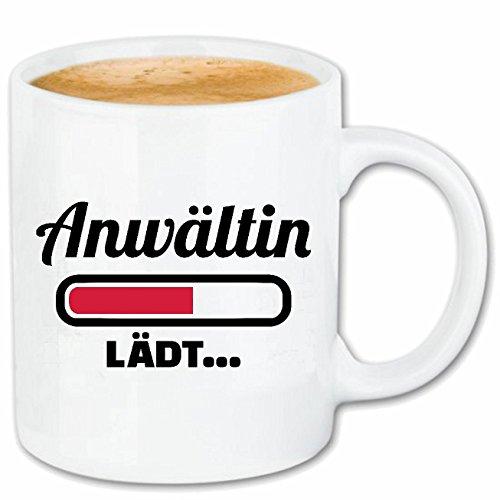 Reifen-Markt Kaffeetasse Ladebalken ANWÄLTIN Loading LÄDT - Anwalt - RECHTSANWALT - STRAFVERTEIDIGER - JURASTUDENT Keramik 330 ml in Weiß