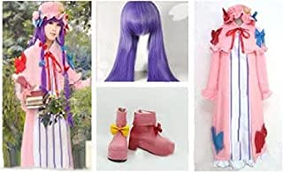 Raindrop Coss Touhou Project Touhou Sangten Patchouli No-Ledge Cosplay Costume + Wig + Shoes Costume for Halloween, Christ...