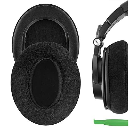 Geekria Comfort - Cuscinetti auricolari in velluto per Audio Technica ATH-M50X, ATH-M40X, ATH-M30X, ATH-M20X, ATH-M10, cuffie di ricambio per auricolari, cuscinetti auricolari di ricambio
