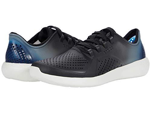 Crocs Women's LiteRide Color Dip Pacer Sneaker   Comfortable Sneakers for Women Black/Light Grey/Vivid Blue 4 M