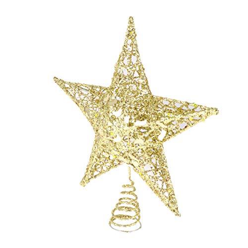 BESPORTBLE Christbaumspitze Stern Glitzer Golden Stern 20cm Weihnachtsbaum Topper Weihnachten Baumschmuck Tannenschmuck Sterne Festival Tannenbaum Dekoration Christbaumschmuck Weihnachtsdekoration