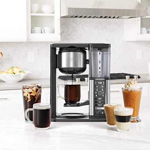 Ninja Specialty Coffee Maker, with 50 Oz Glass Carafe, Black and Stainless Steel Finish