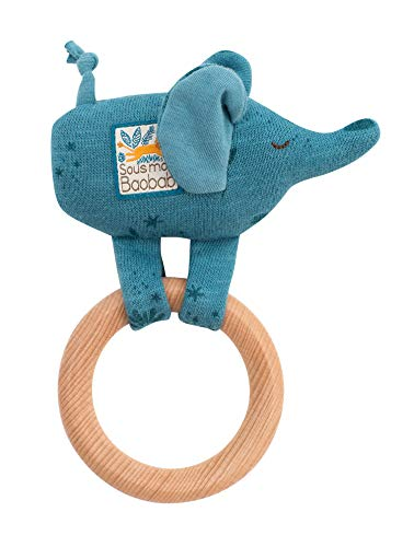 Read About Moulin Roty Wooden Elephant Ring Rattle Sous Mon Baobab