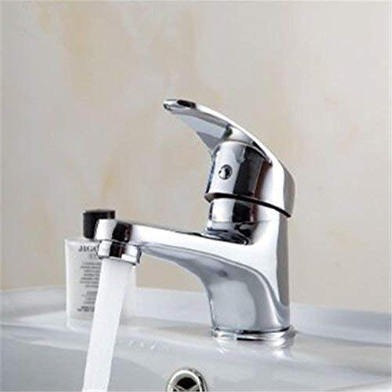 Oudan Basin Mixer Tap Bathroom Sink Faucet Modern simple full copper single-basin sink faucet sink mixer, Standard (color   The Standard)