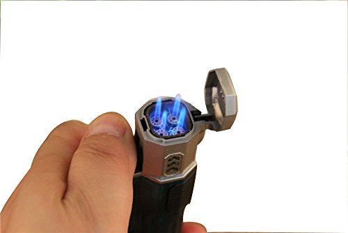 1 Plastic Torch Flame Windproof Lighter Cool Powerful Flame