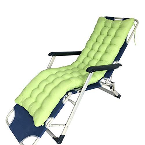 Tumbona Almohadilla reclinable Silla de Repuesto portátil para Patio de jardín Funda de Asiento reclinable para Silla de relajación Cojín Sun Lounger para Holiday Trave, 155x48x8cm para Viajes en in
