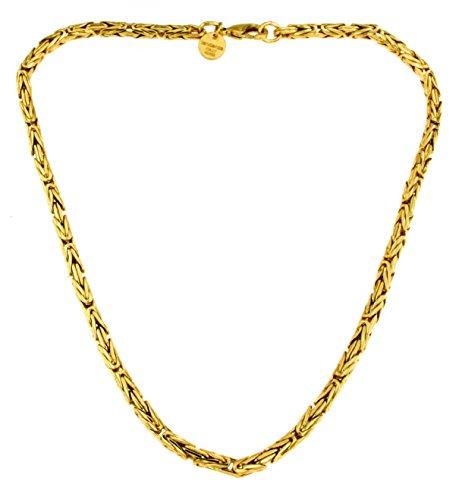 Königs-Kette rund Gold Doublé 4 mm 75 cm Halskette Gold-Kette Herren-Kette Damen Geschenk Schmuck ab Fabrik Italien tendenze BZGYRds4-75v