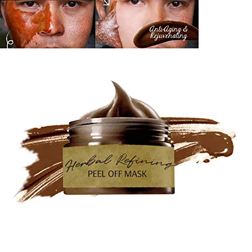 Peel Off Face Masks, Peel-off Blackhead Mask, Blackhead Remover Mask, Herbal Mask Cream, Deep Cleansing Facial Mask Pore Shrinking, Acne and Oil Control for Face & Nose(120ML)