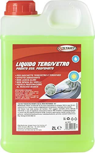 START - Líquido limpiacristales perfumado con almizcle Blanco, 2 l, Efecto desengrasante