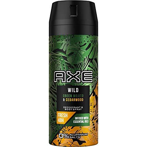 Axe Wild Deospray Green Mojito & Cedarwood Deo ohne Aluminium mit effektivem Schutz vor Körpergeruch 150 ml 1 Stück