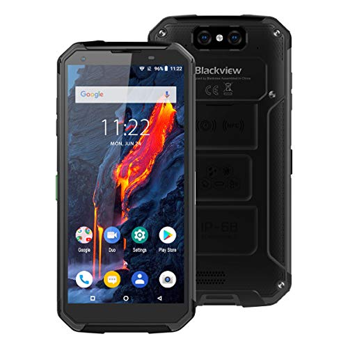 "Rugged Cellphones Unlocked Blackview BV9500 Plus,IP68/69K MIL-STD-810G Waterproof 4G LTE Smartphone,5.7"" 4GB/64GB Octa Core Android 9.0 Mobile,Dual Sim,10000mAh Battery Wireless Charging,NFC (Black)"