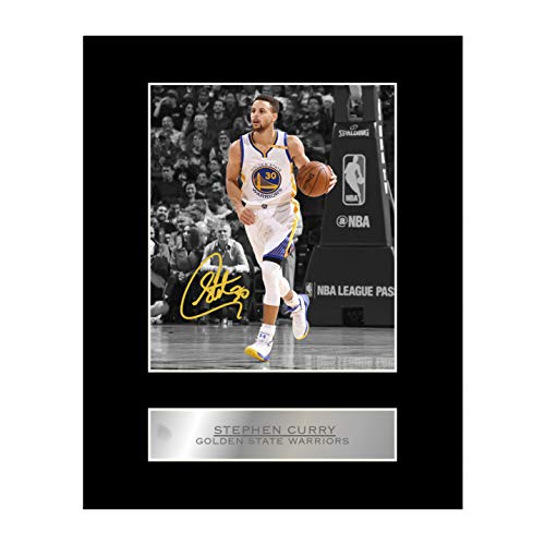 Immagine autografata di Stephen Curry, NBA Golden State Warriors #1, con montatura, da regalo