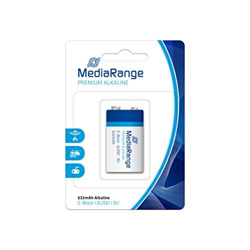 MediaRange MRBAT107 pile non-rechargeable Alcaline 9 V - Piles non-rechargeables (Alcaline, Cylindrique, 9 V, 1 pièce(s), Noir, Bleu)