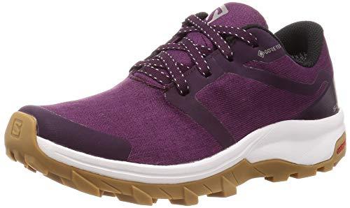 Salomon Women's Outbound GTX Hiking Shoes, Potent Purple/White/GUM1A, 8