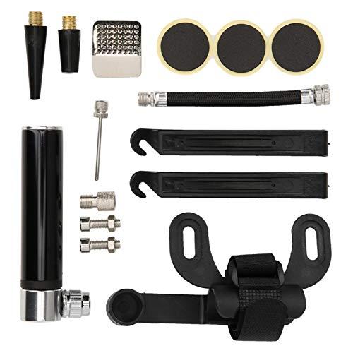 Robusto Kit de reparación de bomba de mini bicicleta de alta durabilidad Bicicletas de montaña de carretera Accesorio resistente al desgaste exquisita mano de obra para montar en(black)
