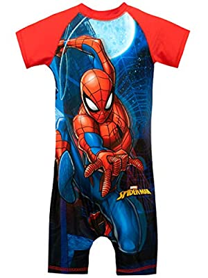 Marvel Boys' Spiderman Swimsuit Size 2T Red