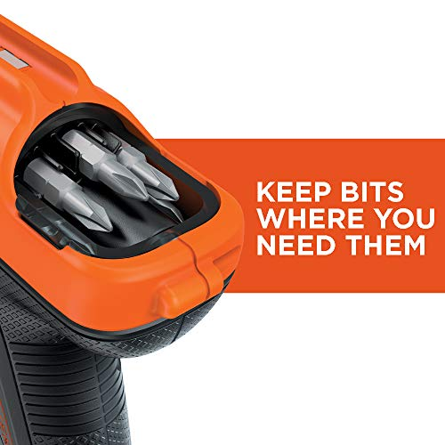BLACK+DECKER 4V MAX Cordless Screwdriver with Bit Storage (BDCS50C)