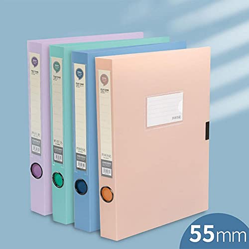 TOMOP 4 cajas de archivos de oficina cajas de documentos carpeta de archivos de 55 mm de espesor de documentos de archivo caja de llenado para oficina escuela empresa organización de archivos
