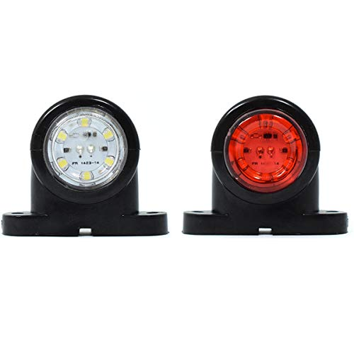 2 x 12 V bianco LED rosso posteriore luci laterali SUV, camion, rimorchi, bus, caravan Bus Van