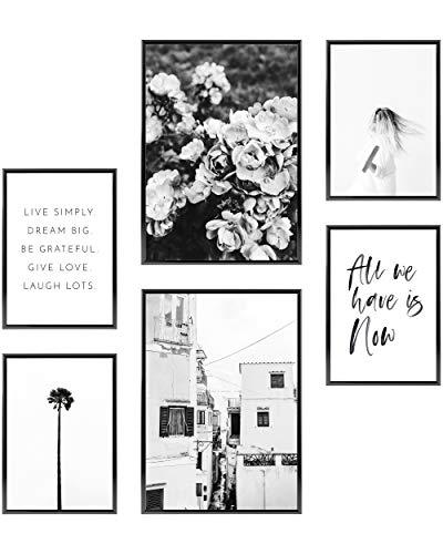 Heimlich® Premium Poster Set   Stilvolles Set mit passenden Bilder als Wohnzimmer Deko   2 x DIN A3 & 4 x DIN A4 - ca. 30x42 & 21x30   ohne Bilderrahmen » All We Have is Now «