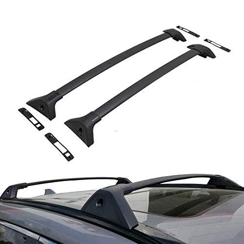 ROSY PIXEL Cross Bars Roof Rack for 2019 2020 Toyota RAV4 Top Rail Aluminum Black (for RAV4(excludes Adventure Grade))