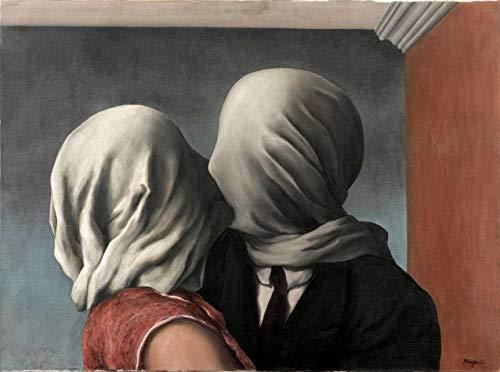 Os Amantes de René Magritte - 30x40 - Tela Canvas Para Quadro