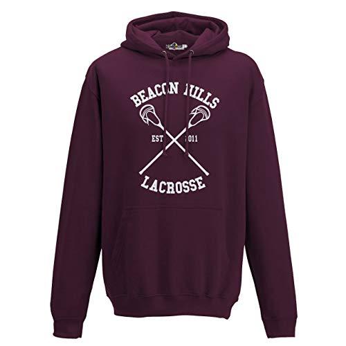 KiarenzaFD Felpa Cappuccio Lacrosse Beacon Hills Stilinski McCall Serie TV