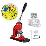 IRONWALLS Button Maker Machine 1'' Inch 25mm Button Badge Maker Punch Press Machine with 1000 Pcs Button Parts Circle Cutter