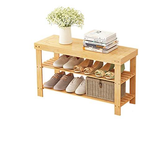 MKJYDM Moderno y Simple Zapato, hogar, suspensión, Dormitorio, Doble, Zapato, Soporte, vestíbulo, Porche, Zapato, Taburete, 70/80 / 90x28x45cm Zapatero (Size : Medium)