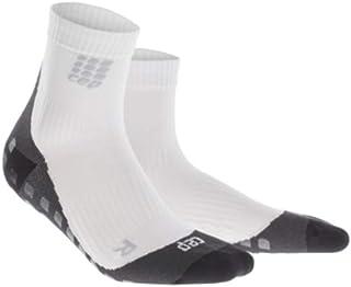 Men's Athletic Compression Crew Socks - CEP Griptech Short Socks for Grip