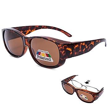 EYEGUARD Polarized Oval Rectangular Lady Glasses,Fit Over Demi Sunglasses