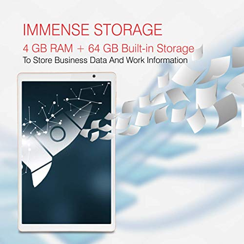 iBall iTAB BizniZ Pro Tablet 10.1 inch, 64GB, Wi-Fi + 4G LTE + Voice Calling (Coal Black)