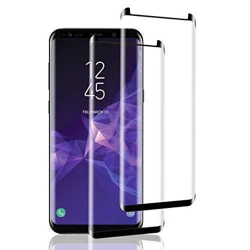 Aspiree 2 Unidades Vidrio Templado Samsung Galaxy S9, Protector Pantalla [Funda Compatible] Cristal Templado con [Anti-Huella] [Premium 9H Definición]