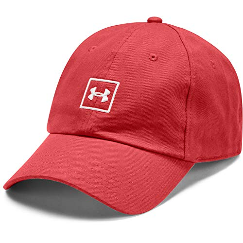 Under Armour Washed Cotton Casquette Homme, Rouge, FR Fabricant : Taille Unique