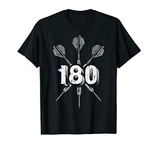Darts T-Shirt - 180 Score Dart Bullseye Geschenk