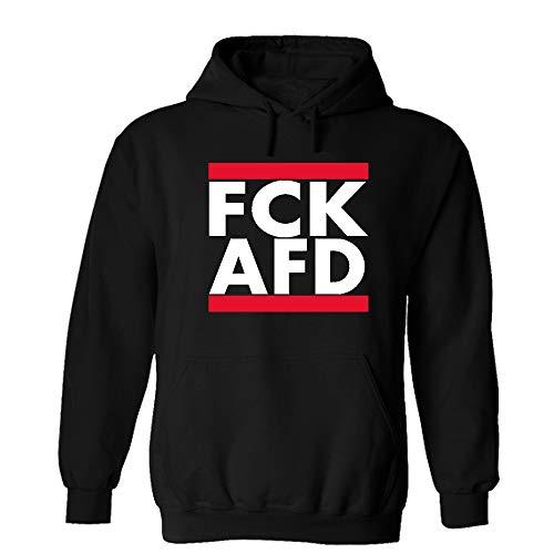 Druckstelle PMS FCK AFD Hoodie Sweatshirt Pullover Schwarz (M)