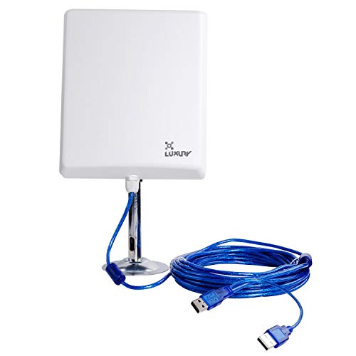TUOSHI 2.4Ghz Outdoor Long Range USB Computer Network Adapters N4000 | 36dBi High Power USB WiFi Extender Antenna for PCs -Work with R300 WiFi Router(Color Box)