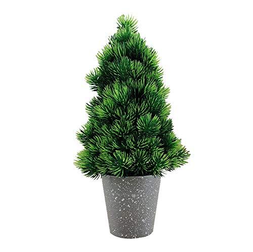 Kunstbonsai kunstplant kunstplant in bloempotten, grenen, Japanse bonsai-plant, 33 cm Graublumentopfpflanze